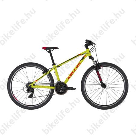 """Kellys Naga 70 Neon Lime MTB 26"""" kerékpár 21 fokozazú Shimano TY300 váltó, 13,5"""""""
