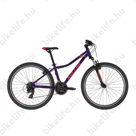 """Kellys Naga 70 Purple MTB 26"""" kerékpár 21 fokozazú Shimano TY300 váltó, 13,5"""""""