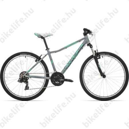 """Rock Machine Catherine 26 női MTB kerékpár 21 sebességes Shimano TY500 váltó, mattszürke/menta 14"""""""