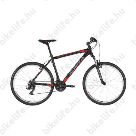 """Alpina Eco M20 Black férfi MTB kerékpár 21 fok. TY500 váltó, alumínum váz, teleszkóp, 13,5"""""""