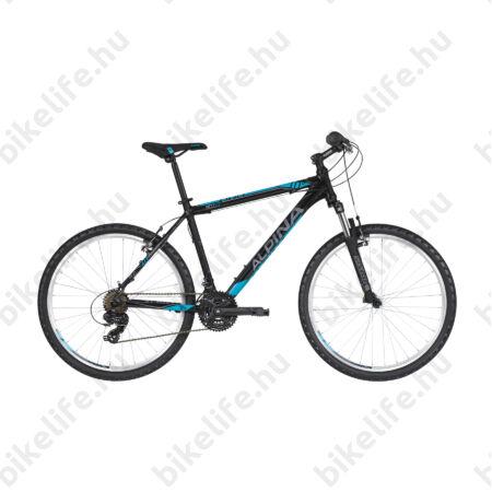 """Alpina Eco M10 Black férfi MTB kerékpár 21 fok. TY300 váltó, alumínum váz, teleszkóp, 13,5"""""""