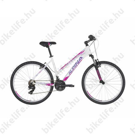 """Alpina Eco LM10 White női MTB kerékpár 21 fok. TY300 váltó, alumínum váz, teleszkóp, 16"""""""