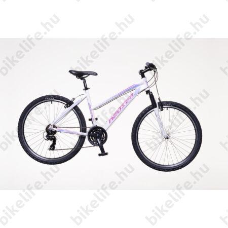 """Neuzer Mistral 50 női aluvázas 26-os MTB kerékpár, 21 sebességes, teleszkópos, fehér/pink-lila 17"""""""