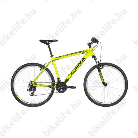 """Alpina Eco M20 Neon-Lime férfi MTB kerékpár 21 fok. TY500 váltó, alumínum váz, teleszkóp, 17,5"""""""