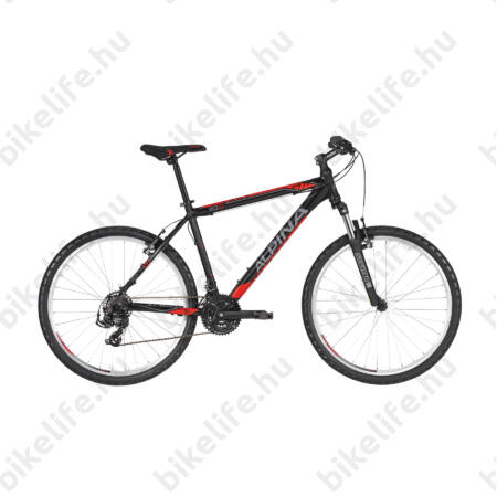 """Alpina Eco M20 Black férfi MTB kerékpár 21 fok. TY500 váltó, alumínum váz, teleszkóp, 15,5"""""""