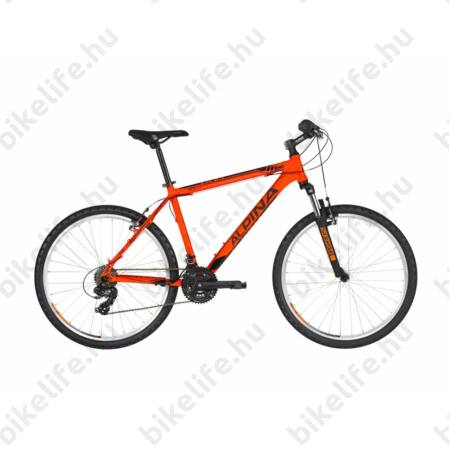 """Alpina Eco M10 Neon-Orange férfi MTB kerékpár 21 fok. TY300 váltó, alumínum váz, teleszkóp, 15,5"""""""