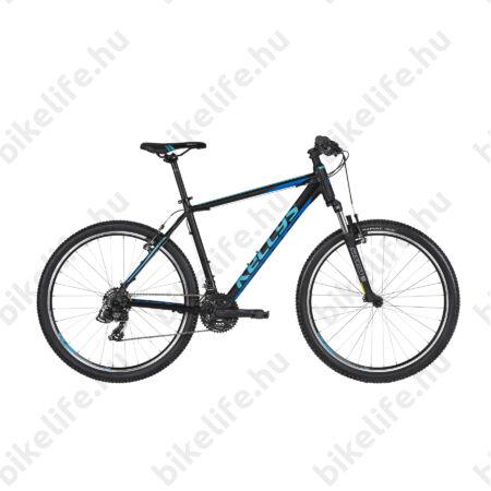 """Kellys Madman 10 2019 MTB 26"""" kerékpár 21 fokozazú Shimano TX800 váltó, Black Blue 17,5"""""""
