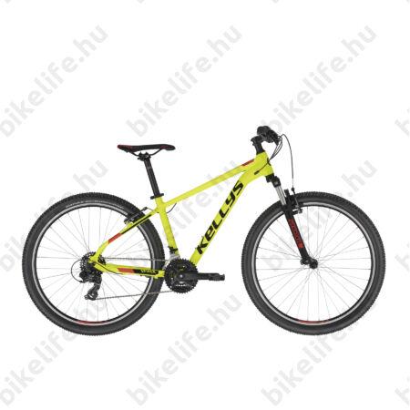 """Kellys Spider 10 Neon Yellow MTB 26"""" kerékpár 21 fokozazú Shimano TY300 váltó, V-fék, XXS/ 13,5"""""""