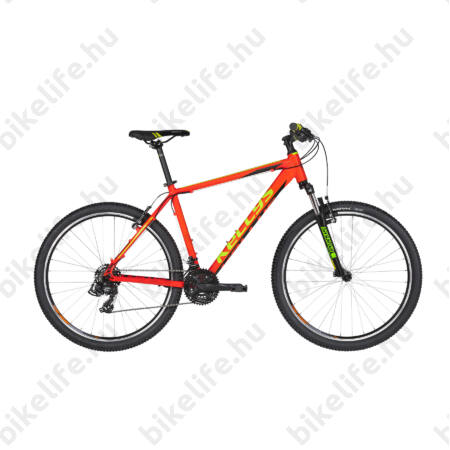 """Kellys Madman 10 2019 MTB 26"""" kerékpár 21 fokozazú Shimano TX800 váltó, Neon Orange 15,5"""""""
