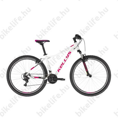 """Kellys Vanity 10 White női MTB 26"""" kerékpár 21 fokozat Shimano TY200 váltó, V-fék, 17""""/S"""