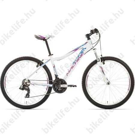 """Rock Machine Catherine 26 2016 női MTB kerékpár 21 sebességes Shimano TX55 váltó, kék/fehér 16,5"""""""