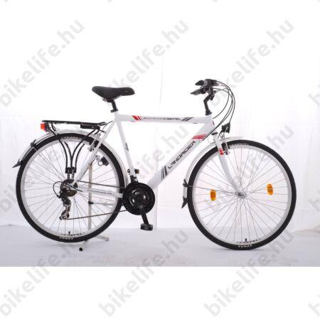 """Csepel Landrider férfi trekking kerékpár Shimano RS/TX váltó, duplafalú abroncs, fehér 21"""""""