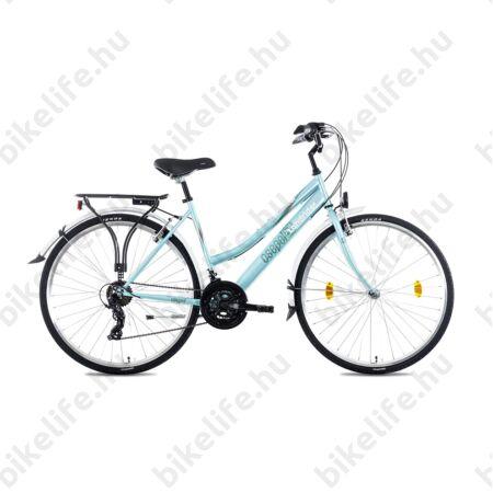 """Csepel Landrider női trekking kerékpár Shimano RS/TX váltó, duplafalú abroncs, türkizkék 17"""""""