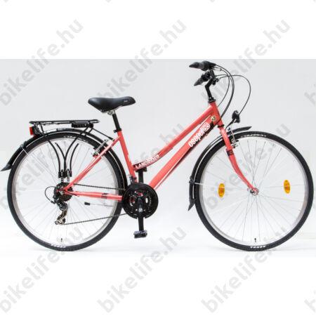"""Csepel Landrider női trekking kerékpár Shimano RS/TX váltó, duplafalú abroncs, korall 17"""""""