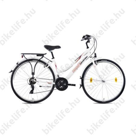 """Csepel Landrider női trekking kerékpár Shimano RS/TX váltó, duplafalú abroncs, fehér 17"""" limitált 90-es évfordulós"""