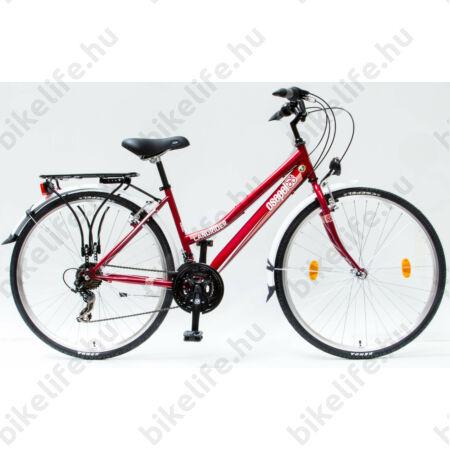 """Csepel Landrider női trekking kerékpár Shimano RS/TX váltó, duplafalú abroncs, piros 19"""""""