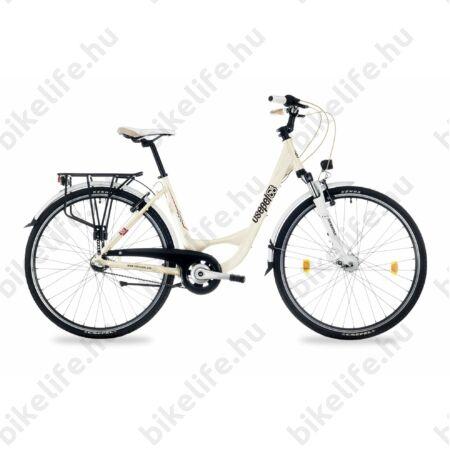 """Csepel Signo 28""""-os városi kerékpár Shimano Nexus 3 fokozatú agyváltó, női, krém 17"""""""
