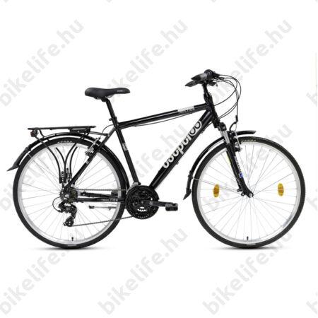 """Csepel Traction 100 férfi trekking kerékpár, alumínium váz, 21 fokozat, fekete, 19"""""""