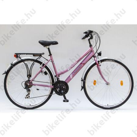"""Csepel Landrider női trekking kerékpár Shimano RS/TX váltó, duplafalú abroncs, rózsaszín 17"""""""