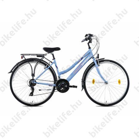 """Csepel Landrider női trekking kerékpár Shimano RS/TX váltó, duplafalú abroncs, világoskék 17"""""""