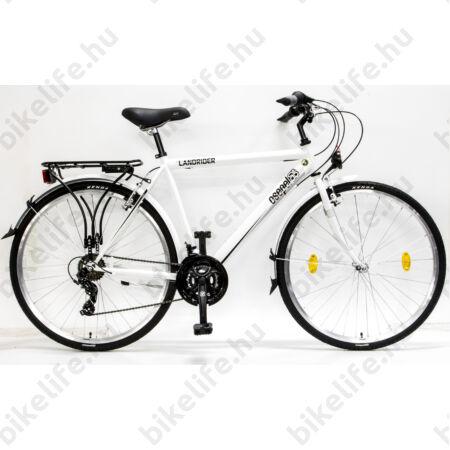"""Csepel Landrider kerékpár Shimano RevoShift/TX, férfi, fehér 21"""", duplafalú abroncs, 2017-es"""