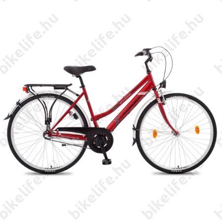 """Csepel Landrider női trekking kerékpár Shimano RS/TX váltó, duplafalú abroncs, piros 17"""""""