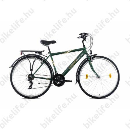 """Csepel Landrider férfi trekking kerékpár Shimano RS/TX váltó, duplafalú abroncs, sötétzöld 21"""""""