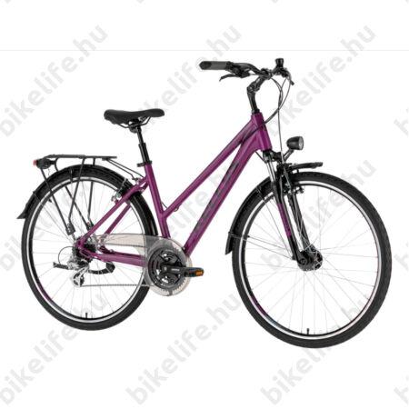 """Kellys Cristy 40 Purple női trekking kerékpár 24 fokozatú Shimano Altus váltó, V-fék, agydinamó, M/19"""""""