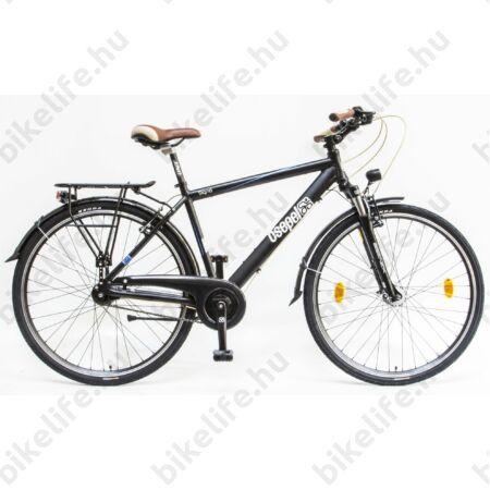 """Csepel Signo 28""""-os városi kerékpár Shimano Nexus 7 fokozatú agyváltó, férfi, fekete 19"""""""