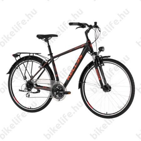"""Kellys Carson 40 Black/Orange férfi trekking kerékpár 24 fokozatú Altus váltó, V-fék, agydin. L/21"""""""
