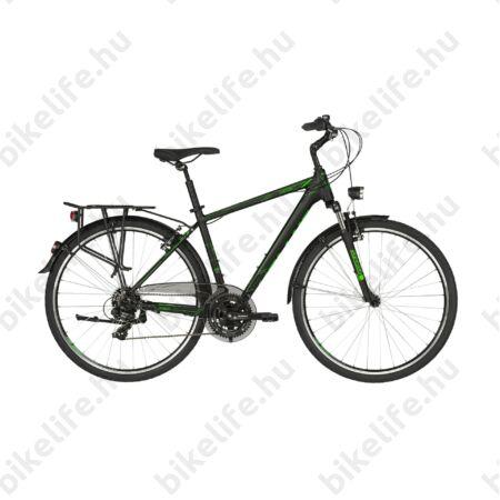 """Kellys Carson 10 Black/Green férfi trekking kerékpár 21 fokozatú Shimano TY300 váltó, M/19"""""""