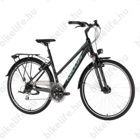 """Kellys Cristy 50 Black/Aqua női trekking kerékpár 24 fokozatú Shimano Acera váltó, V-fék M/19"""""""