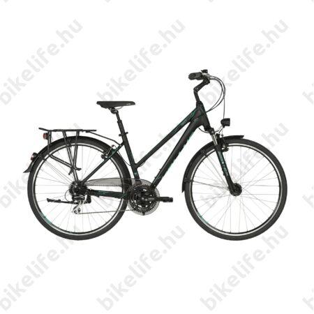 """Kellys Cristy 60 Black/Türkiz női trekking kerékpár 24fokozatú Shimano Acera váltó, agydinamó, M/19"""""""