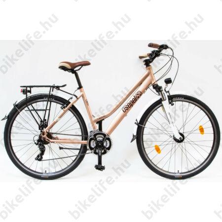 """Csepel Traction 200 női trekking kerékpár, alumínium váz, 21 fokozatú, barna, 19"""""""