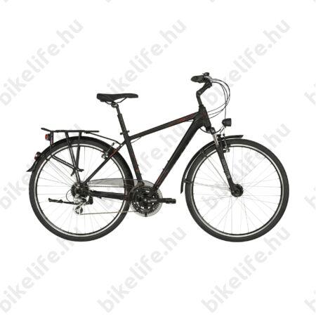 """Kellys Carson 40 Black/Red férfi trekking kerékpár 24 fokozatú Altus váltó, V-fék agydinamó M/19"""""""