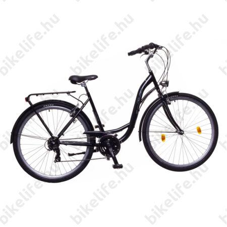 """Neuzer Ravenna 30 női trekking kerékpár fekete/pink-fehér 19"""" monovázas"""
