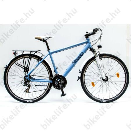 """Csepel Traction 200 férfi trekking kerékpár, alumínium váz, 21 fokozatú, kék, 21"""""""