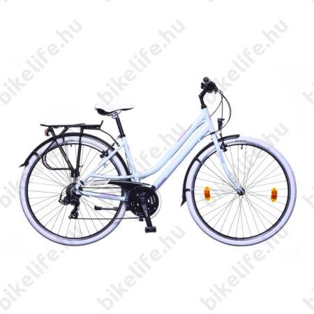 """Neuzer Ravenna 50 női alumínium vázas trekking kerékpár, merev villás, babakék-rózsaszín matt 17"""""""