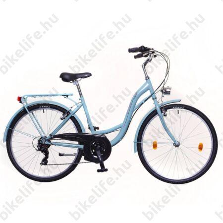 """Neuzer Ravenna 30 női trekking kerékpár celeste/pink 19"""" monovázas"""