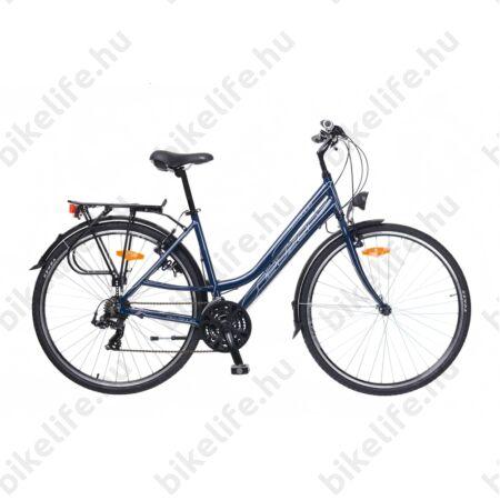 """Neuzer Ravenna 50 női alumínium vázas trekking kerékpár, merevvillás, sötétkék/fehér-pink 17"""""""