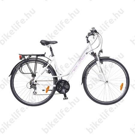 """Neuzer Ravenna Acera női trekking kerékpár fehér/lila-szürke aluvázas 17"""""""