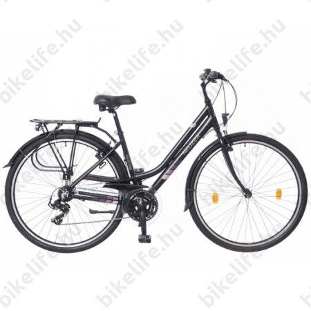 """Neuzer Ravenna Acera női trekking kerékpár fehér/kék aluvázas, 19"""""""