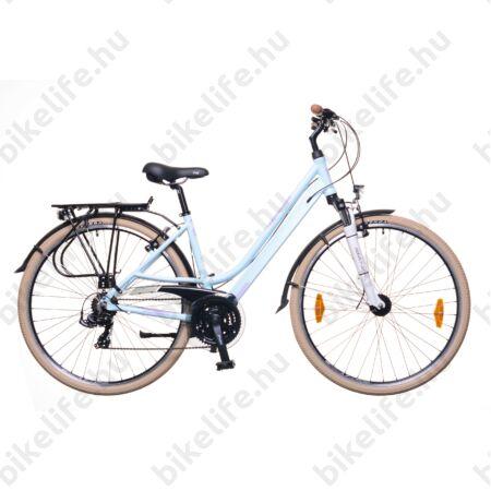 """Neuzer Ravenna 100 női alumínium vázas trekking kerékpár agydinamós, teleszkópos babakék matt 19"""""""