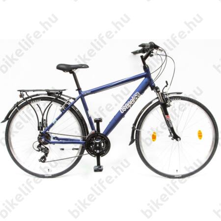 """Csepel Traction 100 férfi trekking kerékpár, alumínium váz, 21 fokozat, sötétkék, 19"""""""