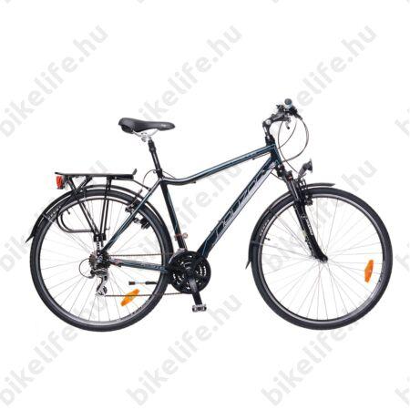 """Neuzer Ravenna Acera férfi trekking kerékpár fekete, kék-piros matricával, aluvázas, 21"""""""