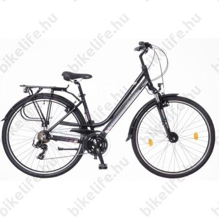 """Neuzer Ravenna Acera női trekking kerékpár 24s. Acera váltó, fehér/lila, agydinamós, aluvázas, 17"""""""