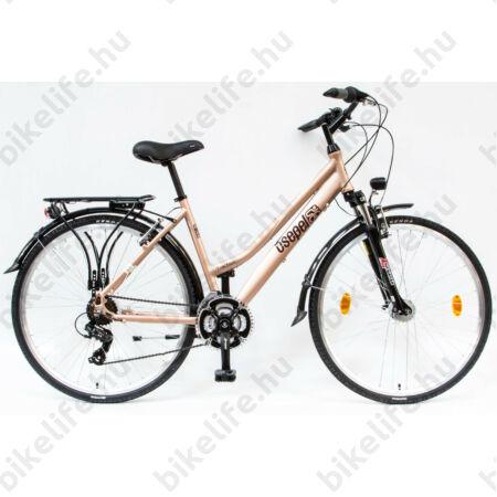 """Csepel Traction 150 női trekking kerékpár, alumínium váz, 21 fokozatú, barna 19"""""""