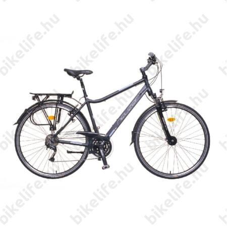 """Neuzer Ravenna Alivio férfi trekking kerékpár aluvázas, 24sebességes Alivio váltó, agydinamós, fekete/kék-piros 19"""""""