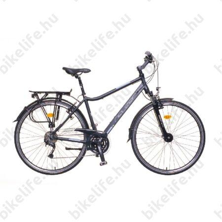 """Neuzer Ravenna 300 Alivio férfi trekking kerékpár aluvázas 24 fokozatú váltó, agydinamós, fekete/szürke matt 19"""""""