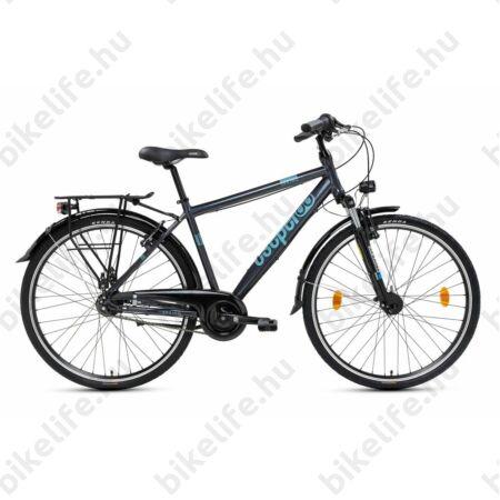 """Csepel Spring 200 férfi trekking kerékpár, alumínium váz, 7 fokozatú Nexus agyváltó, kék, 19"""""""